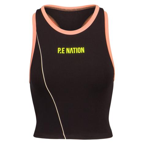 Top P.E Nation MATCH PLAY SPORTS BRA černá PE Nation
