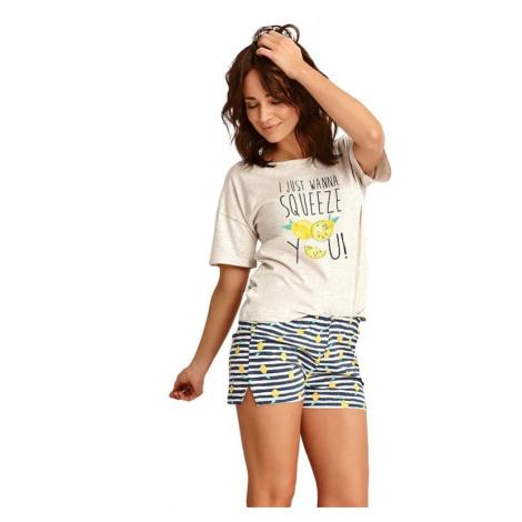 Letní dámské pyžamo Lemon béžové Taro