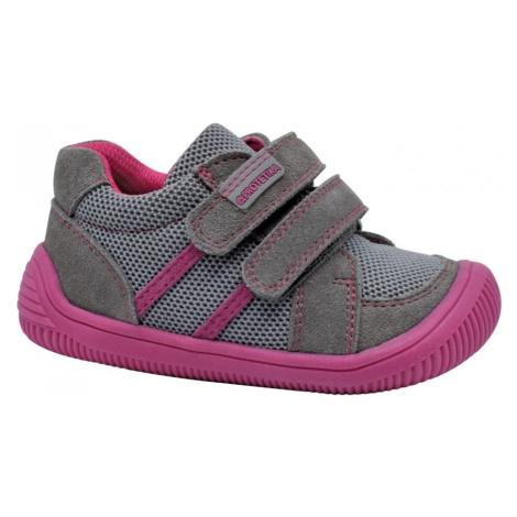 dívčí celoroční boty Barefoot BRIK GREY, protetika, šedá