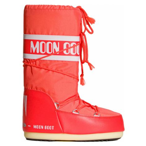 Sněhule Moon Boot JR NYLON červená|oranžová