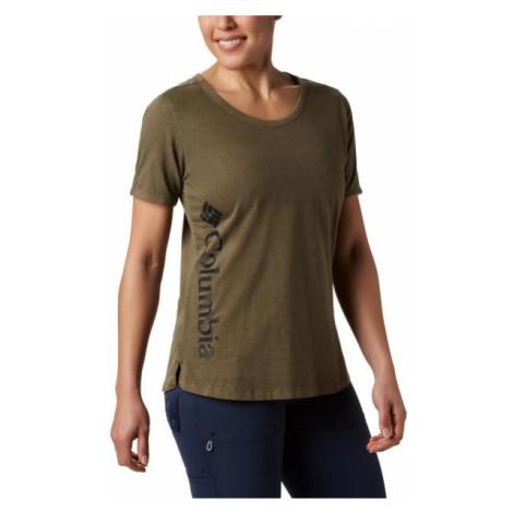 Columbia CSC W PIGMENT TEE zelená - Dámské triko