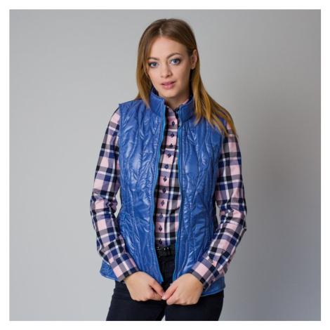 Dámská prošívaná vesta modré barvy 12203 Willsoor