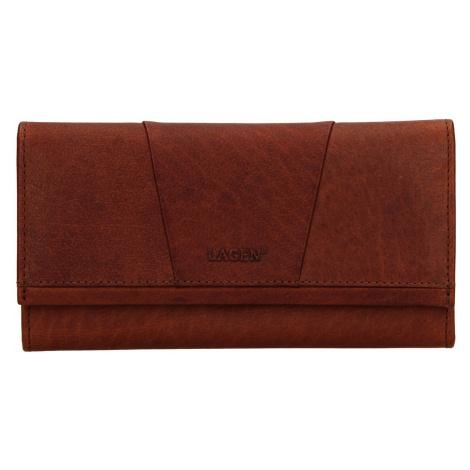 Dámská kožená peněženka Lagen Chloe - koňak