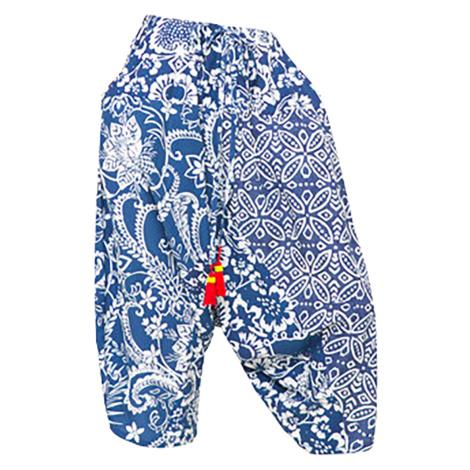 Desigual modrobílé harémové kalhoty