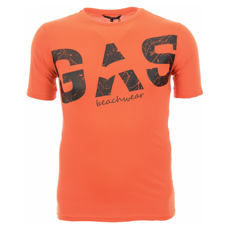 Pánské oranžové tričko s potiskem Gas
