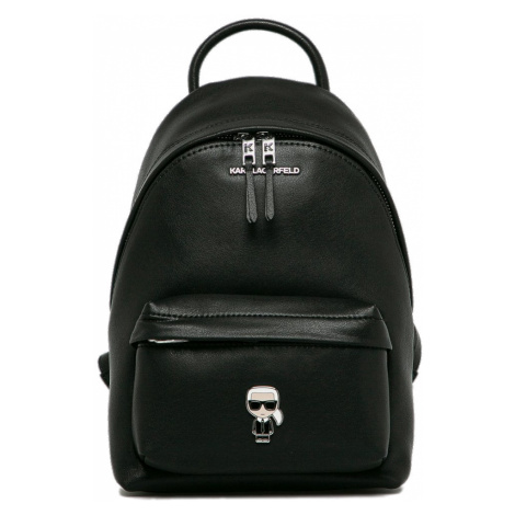 Černý kožený batoh - KARL LAGERFELD