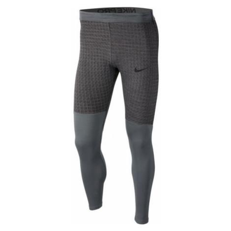 Nike NP TGHT LS UTILITY THRMA M šedá - Pánské legíny