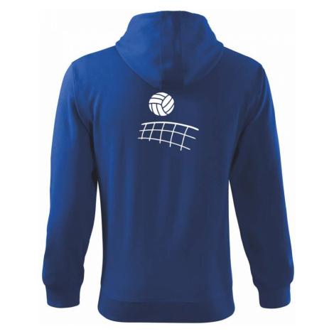Volejbalová síť - Mikina s kapucí na zip trendy zipper