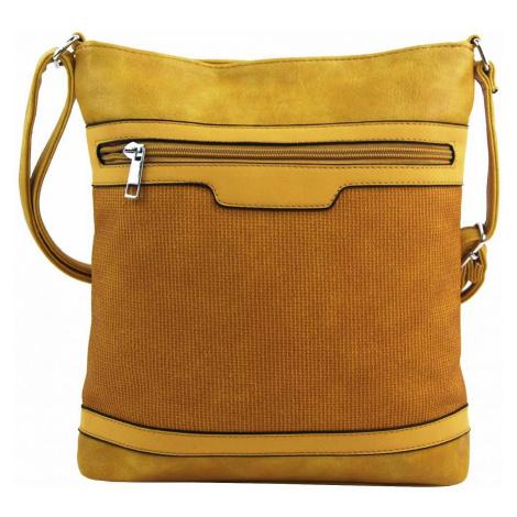 Žlutá crossbody dámská kabelka FB1913 Rosy bag