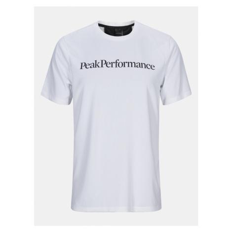 Tričko Peak Performance M Alum Light Short Sleeve - Bílá