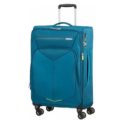 American Tourister Cestovní kufr Summerfunk Spinner EXP 71,5/77 l - modrá