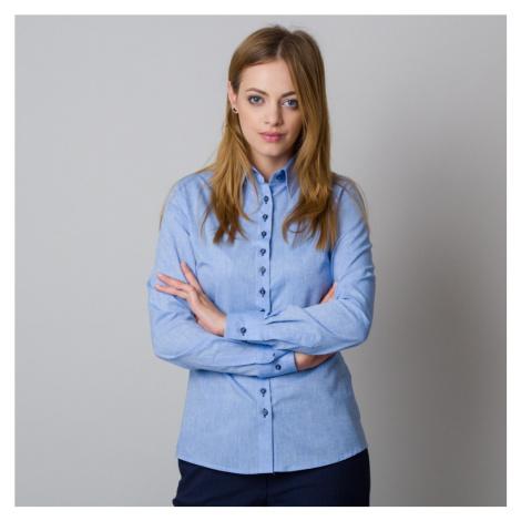 Dámská košile modrá se stylovým nápisem na zádech 12082 Willsoor