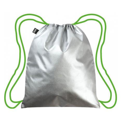Stříbrný vak Loqi Metallic Silver Green