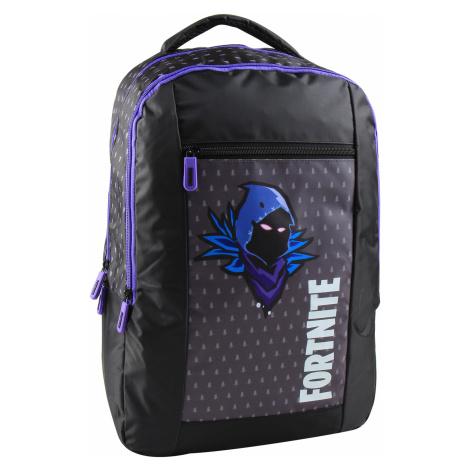 Fortnite Školní batoh Raven dvoukomorový, fialový/černý