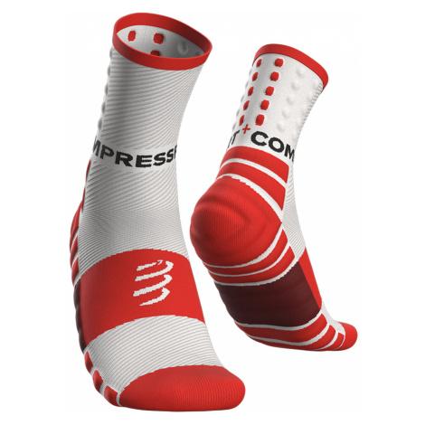 Ponožky Compressport SHOCK ABSORB SOCKS bílá|červená