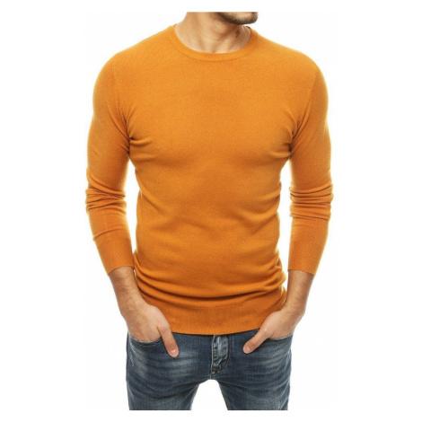 Dstreet Jednoduchý svetr v kamelové barvě
