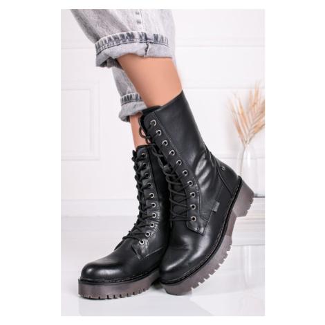 Černé šněrovací boty 43274 Xti