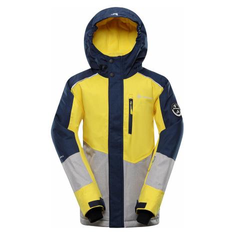 Dětská lyžařská bunda Alpine Pro SARDARO 3 - žlutá