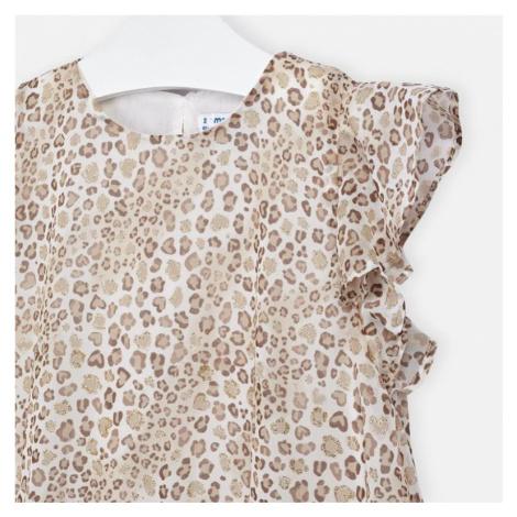 Dívčí šaty Mayoral 3957 | smetanová