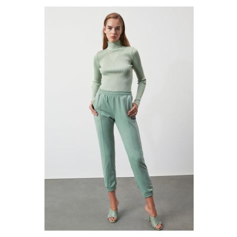 Trendyol Mint KnitPon Detailed Knitwear Sweater