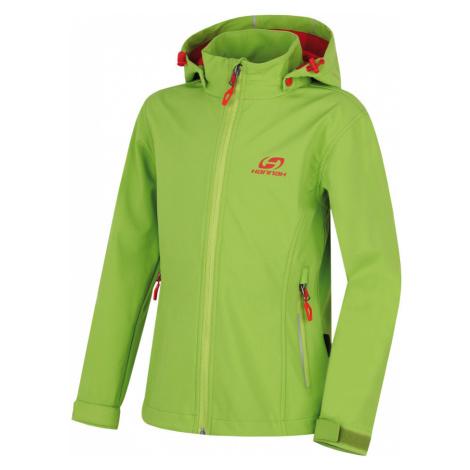 HANNAH Kasha Lite JR Dětská softshellová bunda 117HH0121SJ04 Lime green