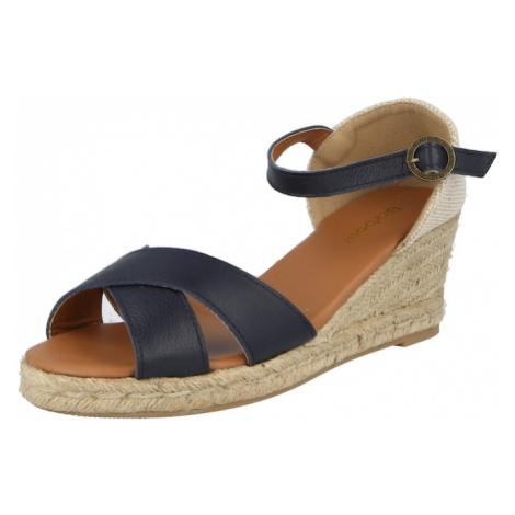Barbour Páskové sandály 'Angeline' námořnická modř / starobéžová