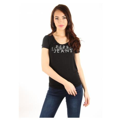 Pepe Jeans dámské černé tričko Brent