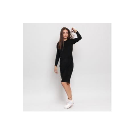 Urban Classics Ladies Peached Rib Dress LS černé