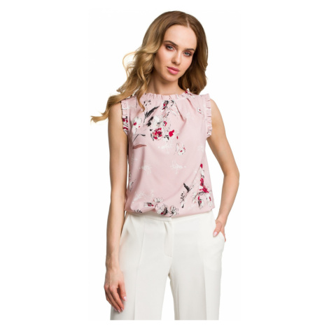 Made Of Emotion Woman's Blouse M384 Powder