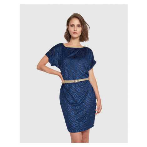 Šaty La Martina Woman Dress Short Sleeves - Modrá