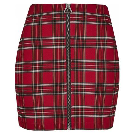 Urban Classics Dámská krátká sukně Checker Mini sukně cervená/cerná