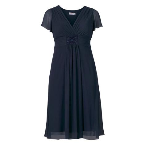 SHEEGO Koktejlové šaty tmavě modrá