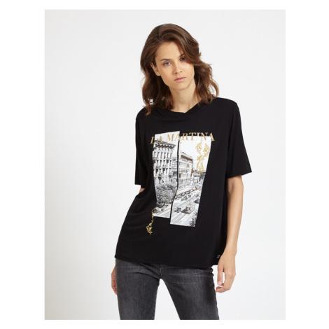 Tričko La Martina Woman T-Shirt Viscose Jersey - Černá
