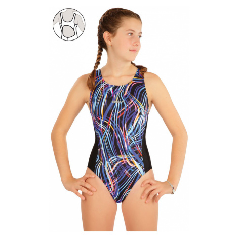 LITEX Dívčí jednodílné sportovní plavky 63632