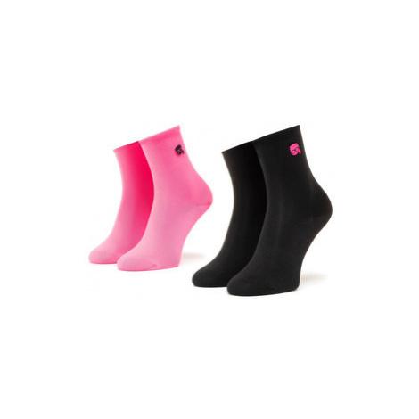 Sada 2 párů dámských vysokých ponožek KARL LAGERFELD