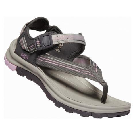 Dámské sandály Keen Terradora II Toe Post W dark grey/dawn pink
