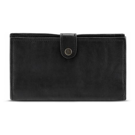 Bagind Penny Sirius - Dámská kožená peněženka černá, ruční výroba, český design