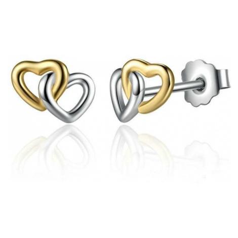 Linda's Jewelry Stříbrné náušnice Love Double IN003