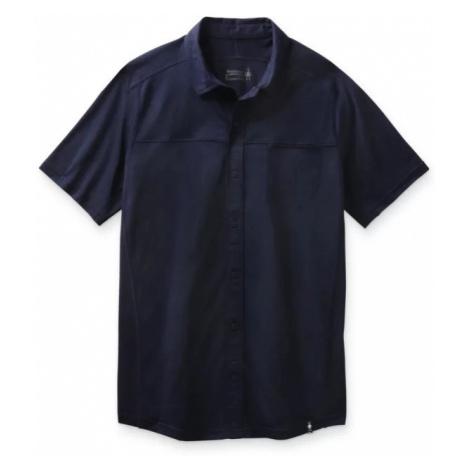 Pánská košile Smartwool M Merino Sport 150 SS Button Down deep navy