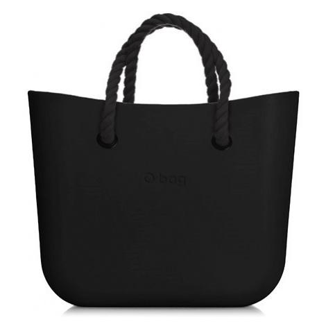 Kabelka obag mini černá s krátkým provazem černá O bag
