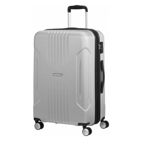 American Tourister Střední cestovní kufr Tracklite Spinner EXP 71/82 L - stříbrná