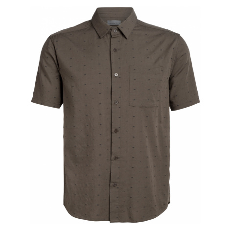 Pánská košile ICEBREAKER Mens Compass SS Shirt, DRIFTWOOD Icebreaker Merino