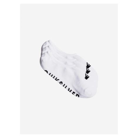 Ponožky 3 páry Quiksilver Bílá