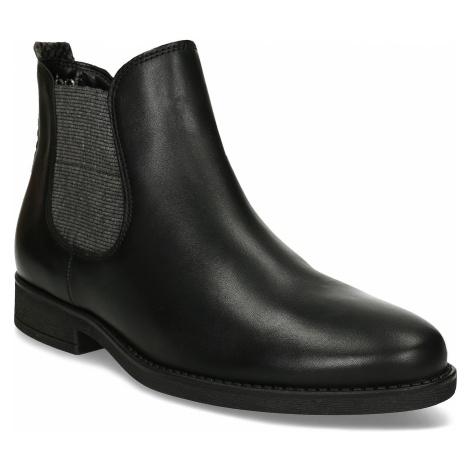 Dámská černá kožená Chelsea obuv Gabor