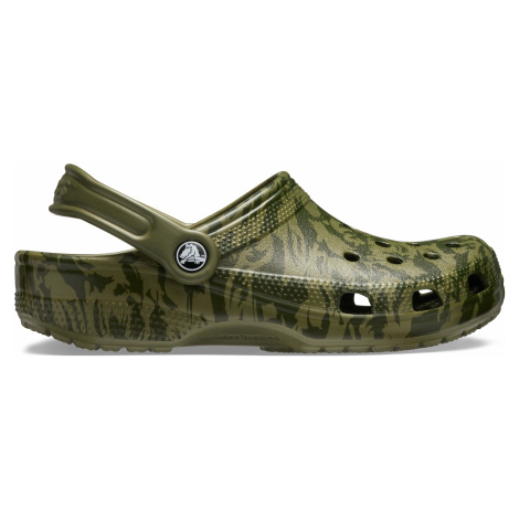 Crocs Classic Printed Camo Clog Army Green