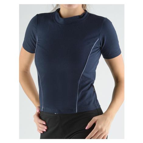 GINA Tričko se stojáčkem, krátkým rukávem, zdobení paspulemi 98005-DCMLGM Lékořice-ocelová