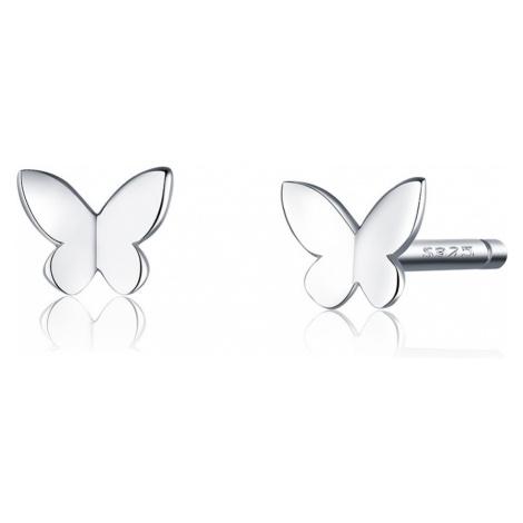 Linda's Jewelry Stříbrné náušnice pecky Motýlek Ag 925/1000 IN22