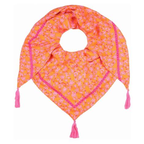 Zwillingsherz Látková rouška oranžová / růžová
