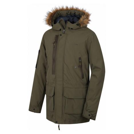 Pánský plněný zimní kabát Husky Nelidas M XXL, tm. khaki