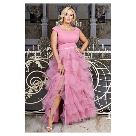 Dlouhé šaty s tylovou volánkovou sukní SANDRA LONG